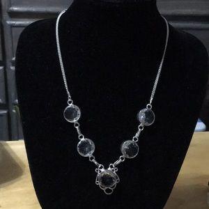 White Topaz Silver Necklace